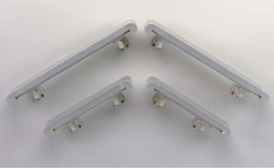 TWO PAIRS OF HAND RAILS FROM T