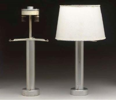 THREE DRESSER LAMPS FROM A FIR