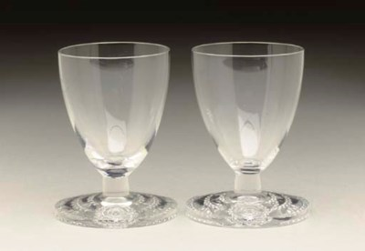 A PAIR OF PORT GLASSES FOR THE