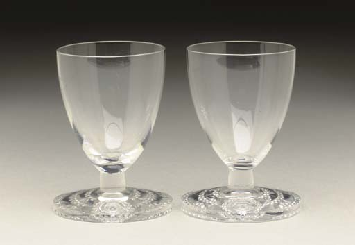 A PAIR OF PORT GLASSES FOR THE PRIVATE SUITES ON BOARD THE S.S. NORMANDIE FOR THE FRENCH LINE (CGT)