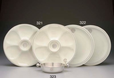 A GROUP OF THREE PLATES USED O