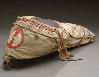 AN ARAPAHO QUILLED CLOTH BABY