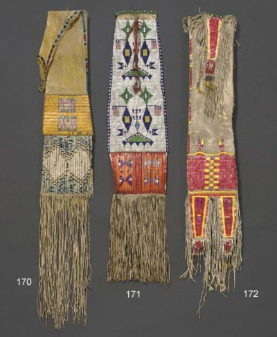 A NORTHERN PLAINS BEADED, QUIL