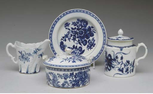 A WORCESTER BLUE AND WHITE PAI
