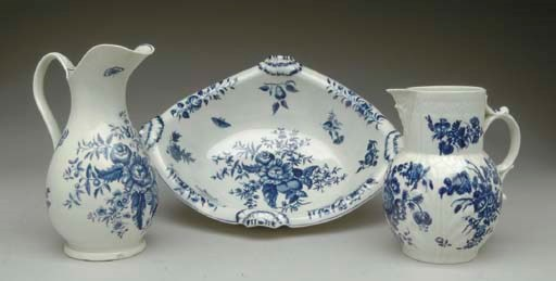 A CAUGHLEY PORCELAIN BLUE AND
