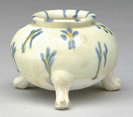 A CHINESE SMALL BLUE, CREAM AN