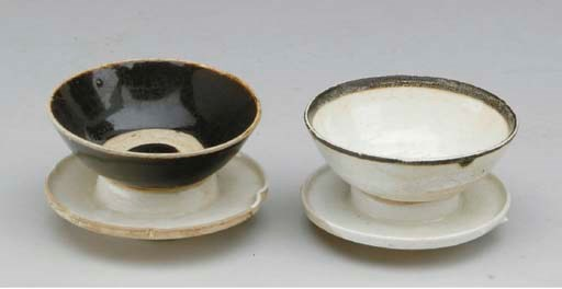 TWO CHINESE CIZHOU CUPS AND ST