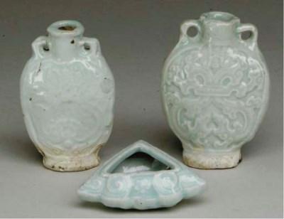 THREE CHINESE SMALL QINGBAI VE
