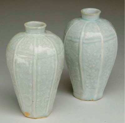 A PAIR OF CHINESE QINGBAI FACE