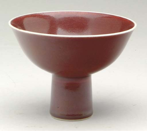 A CHINESE COPPER-RED-GLAZED ST