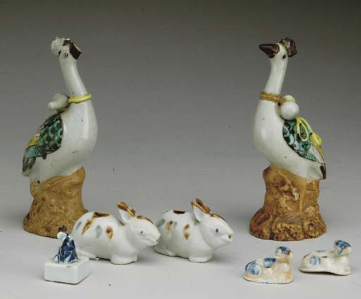 A GROUP OF SEVEN CHINESE GLAZE