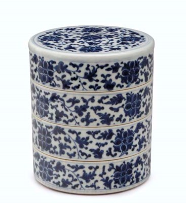 A CHINESE BLUE AND WHITE SOFT-