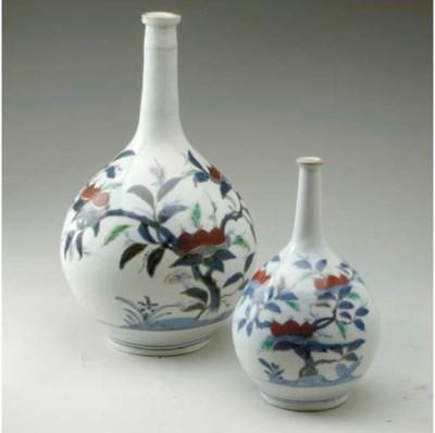 TWO JAPANESE ARITA POLYCHROME
