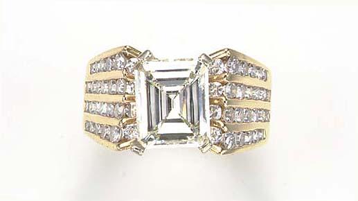 A DIAMOND, SIMULATED DIAMOND A