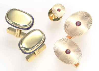 A GROUP OF 14K GOLD AND GEM-SE