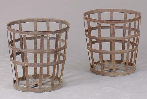 A PAIR OF CONTEMPORARY STEEL B