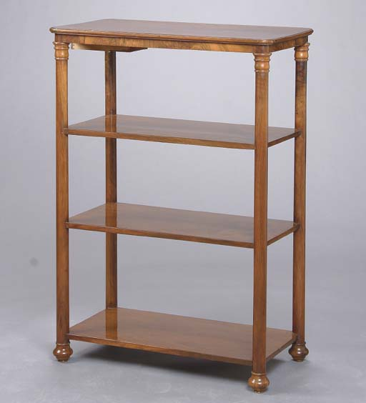 A MAHOGANY FOUR-TIERED ETAGERE
