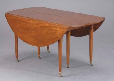 A DIRECTOIRE STYLE MAHOGANY DR