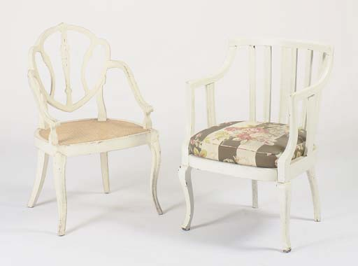 A PAIR OF GEORGE III STYLE WHI
