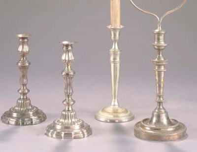 A GROUP OF FOUR SILVER PLATE C