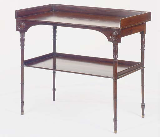 A LATE VICTORIAN MAHOGANY TWO-