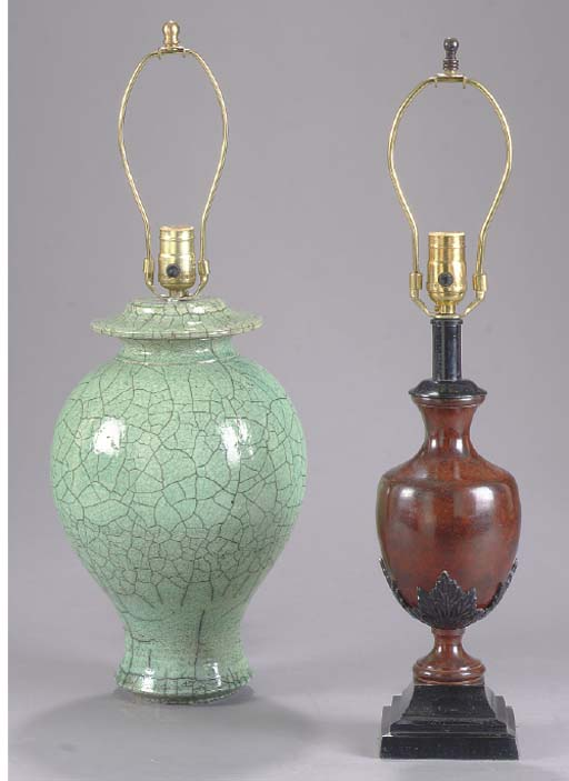 TWO PAIRS OF LAMPS,