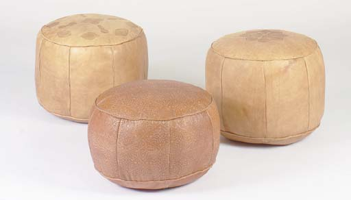 A GROUP OF THREE TAN LEATHER E