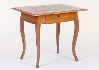 A FRENCH WALNUT AND FRUITWOOD