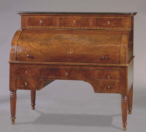 A LOUIS PHILIPPE MAHOGANY CYLI