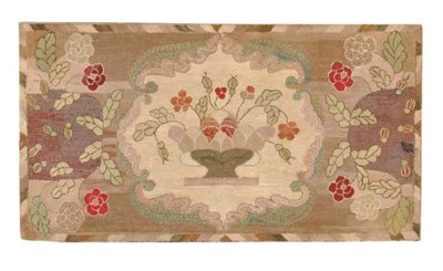 AN AMERICAN HOOKED RUG,
