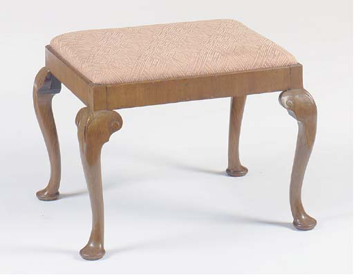A GEORGE II STYLE WALNUT STOOL