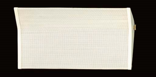 A PERFORATED AND CREAM-PAINTED