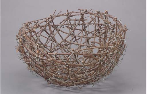 A CONTEMPORARY WOVEN TWIG AND