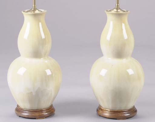 A PAIR OF CHINESE DOUBLE GOURD