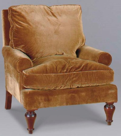A SET OF THREE CLUB CHAIRS UPH