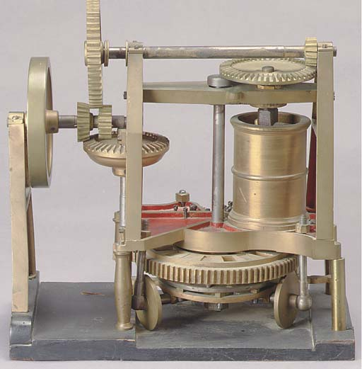 A CAST IRON PATENT MODEL OF A