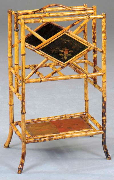 A VICTORIAN STYLE BAMBOO AND L