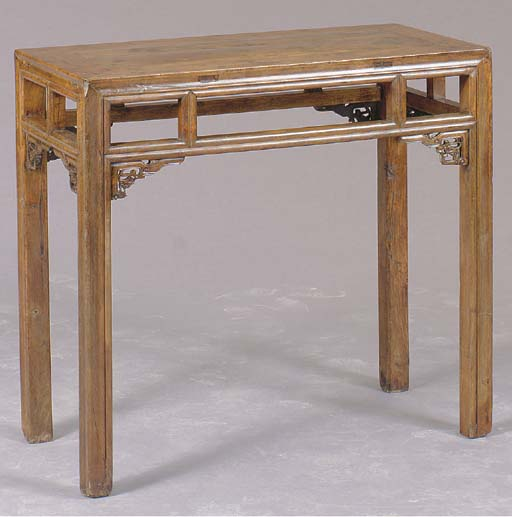 A CHINESE CARVED HARDWOOD ALTA