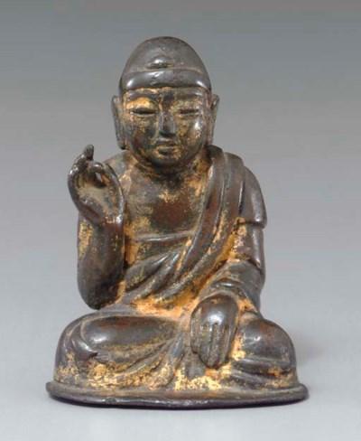 Gilt-bronze Seated Buddha