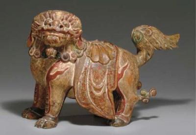 A Polychrome Wood Mythical Lio