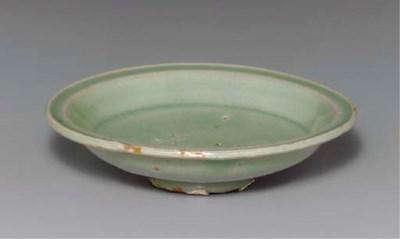 A Celadon Stoneware Dish