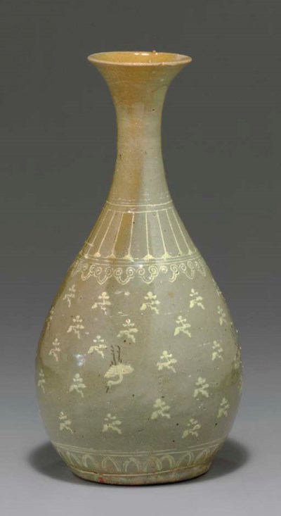 An Inlaid Celadon Bottle