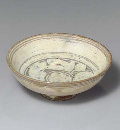 A Punch'ong Small Footed Bowl