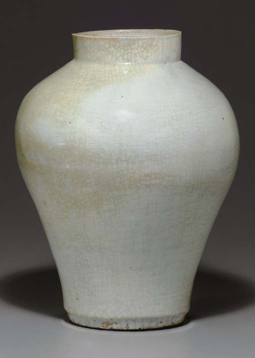 A Large White Porcelain Jar
