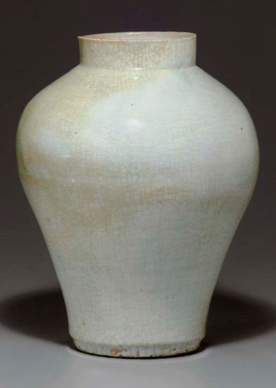 A Large White Porcelain Jar