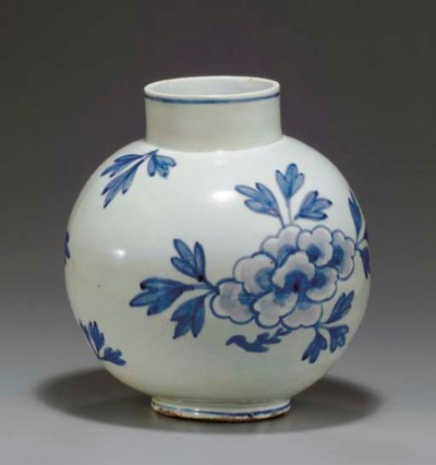 A Large Blue and White Porcela