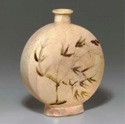 An Iron-decorated Flask