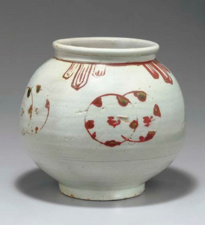 A Copper-decorated Porcelain J