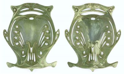 A Pair of Painted Cast Iron Sh