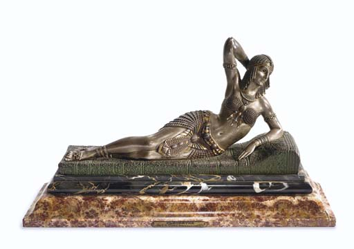 'Cleopatra' A Patinated Bronze